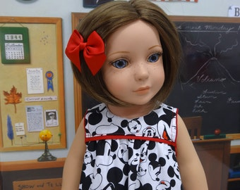 Mickey Mouse Fan - Vintage styled dress for American Girl