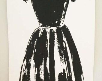The Little Black Dress Large Screen Print