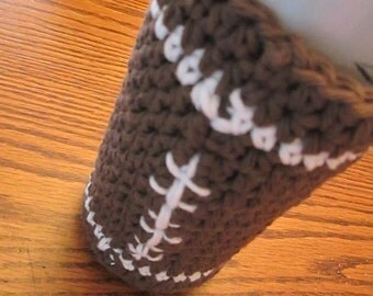Football Can Cozy, Tall Can Cozy for your can, bottle or glass