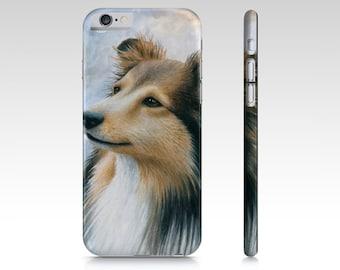 Dog Phone Case Dog 122 Sheltie Collie - Iphone 7, 6/6s, Plus, 5/5s, Samsung Galaxy S7, S6, Edge, S5, S4, S3 art by L.Dumas
