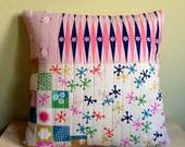 "Lotta's Leisure  Quilted Removable Pillow Cover 18"" x 18"""