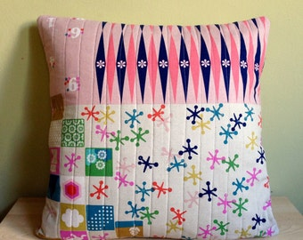 """Lotta's Leisure  Quilted Removable Pillow Cover 18"""" x 18"""""""