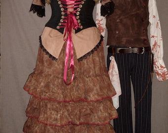 Custom Mrs Lovett Bustle Skirt and Waist Cincher Corset Sweeney Todd Costume Cosplay