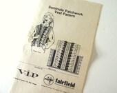 UNCUT Vintage 1980's Seminole Patchwork Vest Pattern Leaflet from Fairfield / VIP