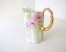 Signed Antique RC Monbijou Creamer - Hand Painted Roses