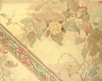Vintage 1932 Wallpaper and Border Samples - Blossom