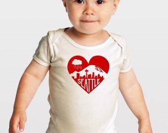 Seattle Love — Organic Cotton Baby One Piece