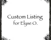 "Custom listing for Elyse O. 5/8"" sterling silver, disk, charm, name, turtle, personalized, custom, pendant, add on, handstamped, hammered"