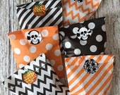 Halloween Treat Bags w/Stickers-Set of 12!