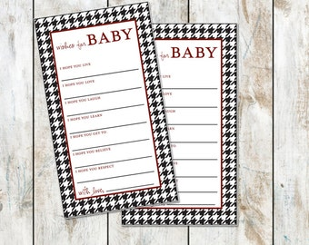 Houndstooth Baby Shower Game Digital Download- Baby Shower Printable
