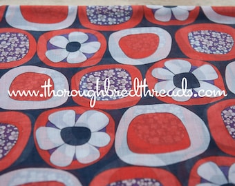 Groovy Flower Power- Vintage Fabric 60s 70s New Old Stock Great Graphics
