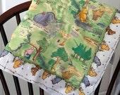 """Classic Winnie The Pooh Preemie-sized quilt, 23"""" W X 23"""" L"""