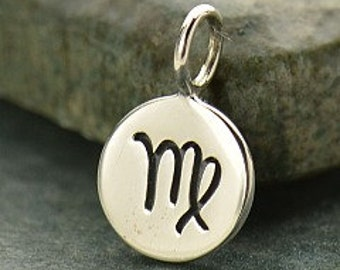 NEW - VIRGO 925 Sterling Silver Zodiac Charm - Add A Chain Option Avaliable - Insurance Included