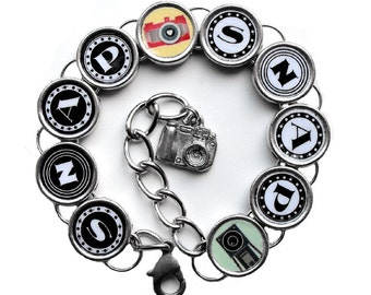 Snap Snap Photographers Bracelet Photo Picture Camera Photography Jewelry
