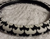 Bats and Goblins * Two Way Cover * Halloween Steering Wheel Cover * One Way a Ghost One Way a Bat Black White Haunted