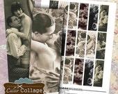 Vintage Couples Digital Collage Sheet Microslide Collage Sheet 1x3 Collage Sheet Lover Images Vintage Romance Vintage Ephemera CalicoCollage
