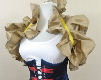 Gold Gilt Patterned Tie On Shrug