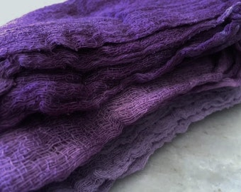 Hand Dyed Cheesecloth Set of 3 Grape Crush