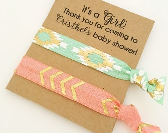 baby shower favors girl baby girl shower hair tie favors baby shower favors