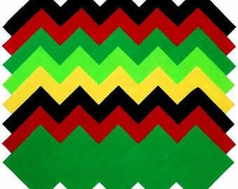 """40 4"""" Fabric Squares Cotton Solid Pack Red Green Black Yellow Quilting CP-02"""