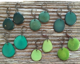 One pair of earrings - you pick shade of green