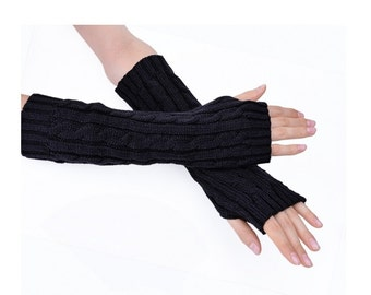 Arm Warmers 4 Colors Long Gloves Finderless Gloves Wool Gloves
