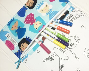 NEW - Color me wallet with washable markers - Color, wash, repeat  - ice princess