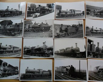 Vintage Steam Train Photos - Lot 2