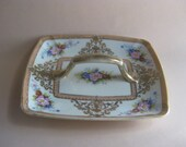 Noritake Handpainted Porcelain Candy Dish with Gold Luster Glaze Vintage
