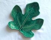 Handmade Ceramic Fig Leaf Plate