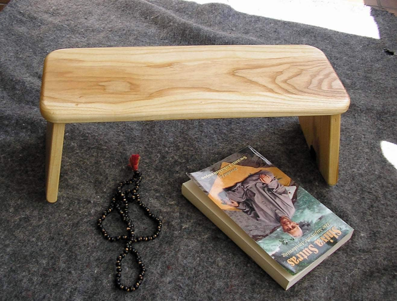 Stillpoint Meditation Benches Folding Rounded Leg Ash