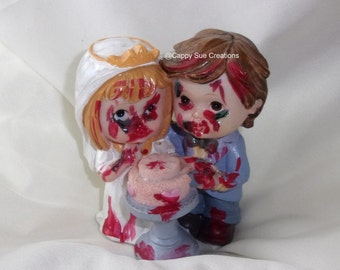 Zombie wedding cake toppers figurine