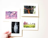 Set of Four Photographic Blank Cards - Free Shipping