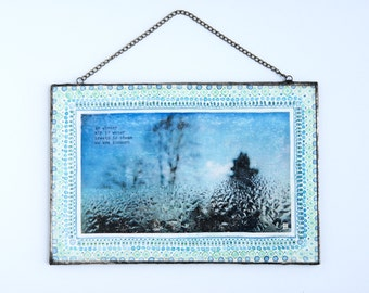 air is water - hand painted framed photo ready to hang