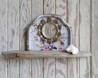 driftwood and tin curiosity shelf, niche, shrine