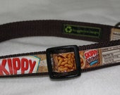 Adjustable Dog Collar from Recycled Skippy Peanut Butter Labels