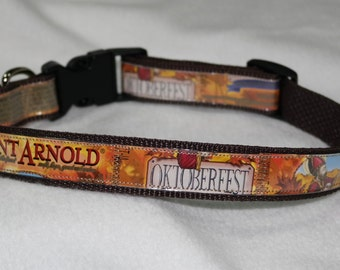 Adjustable Dog Collar from Recycled Saint Arnold Oktoberfest Beer Labels