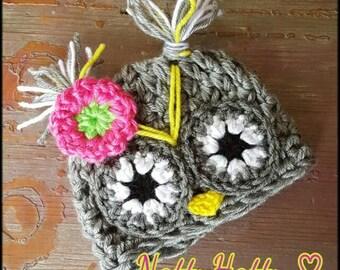 baby girl owl hat,Baby owl hat, costume owl hat, newborn owl hat ,  childrens costume, newborn photo prop owl hat