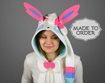 Sylveon Pokemon Costume Hoodie - Made to Order