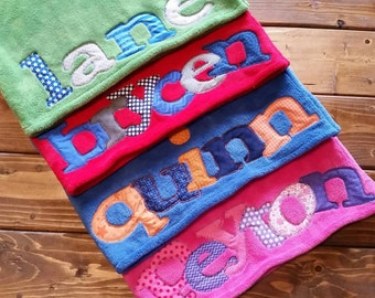 Personalized Pillowcase, Minky Pillowcase, Personalized Gift, Christmas Gift, Kids Holiday Gift, Pillowcase with Name, Made to Order