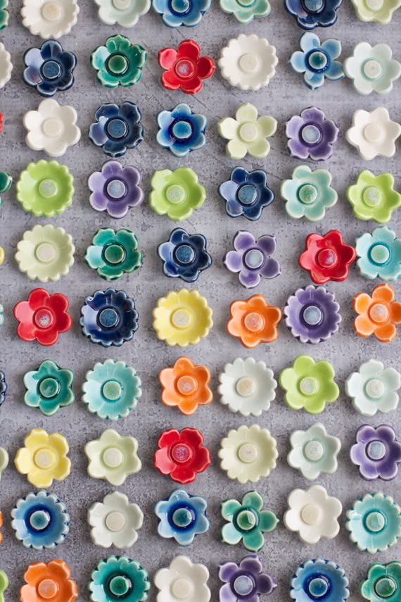 porcelain flower magnet wedding favors