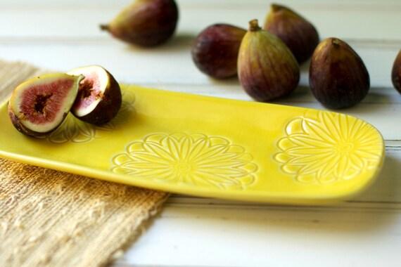 Porcelain Flower Tray in Marigold