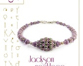 pendant tutorial / pattern  Jackson necklace with superduo beads...PDF instruction for personal use only