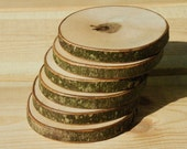 Silver Maple wood drink coasters - set of 6