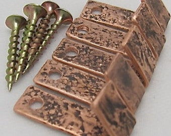Copper Hooks. Copper Hangers. Copper Wall Fixtures. SMALL Copper Wall Hooks. Cabinet Hooks.