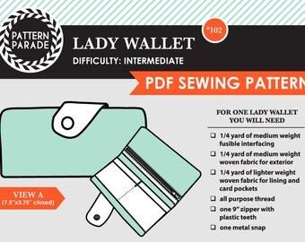 Lady Wallet – PDF Sewing Pattern