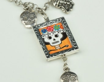 Day of the Dead necklace charm, sold by each
