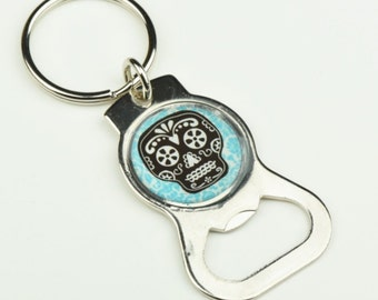 Day of the Dead Custom key chain and bottle opener, each