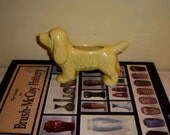 Spaniel Dog Yellow Brush McCoy Pottery 1952 USA #74 Vintage Planter Vase Figure