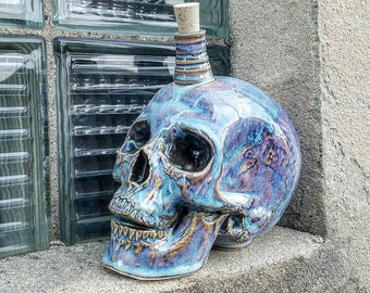 Realistic skull decanter life size